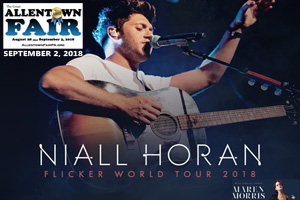 100.7 LEV Welcomes Niall Horan Coming to the Great Allentown Fair in 2018!
