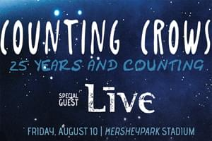 100.7 LEV Welcomes Counting Crows and +Live+ to Hersheypark Stadium