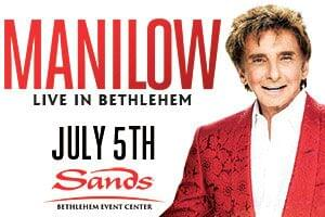 100.7 LEV Welcomes Barry Manilow to Sands Bethlehem Event Center