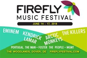 100.7 LEV is Sending You to the Firefly Music Festival!