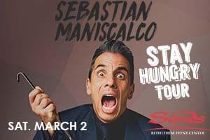 100.7 LEV Welcomes Sebastian Maniscalso to Sands Bethlehem Event Center