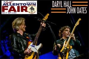 100.7 LEV Welcomes Daryl Hall & John Oates to the Great Allentown Fair