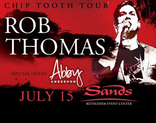 Image result for Rob Thomas at Sands Bethlehem Event Center July 15th