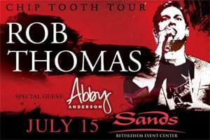 100.7 LEV Welcomes Rob Thomas to Sands Bethlehem Event Center