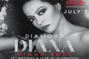 100.7 LEV Welcomes Diana Ross to Sands Bethlehem Event Center