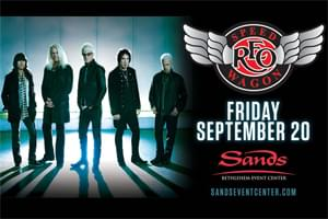 100.7 LEV Welcomes REO Speedwagon to Sands Bethlehem Event Center