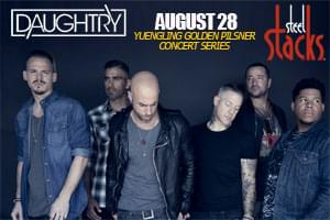 100.7 LEV Presents Daughtry to Steel Stacks in Bethlehem
