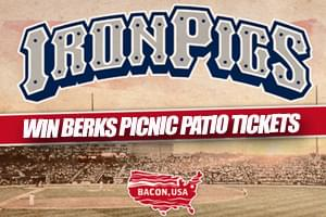 Win a 4-pack of Tickets to see the Iron Pigs on the Berks Picnic Patio