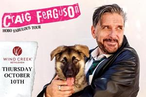 100.7 LEV Welcomes Craig Ferguson to the Wind Creek Event Center October 10th