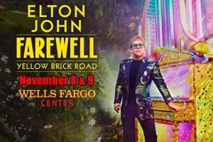 Elton John at Wells Fargo Center Nov. 8th & 9th