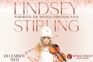 Lindsey Stirling at Wind Creek Event Center Dec. 9