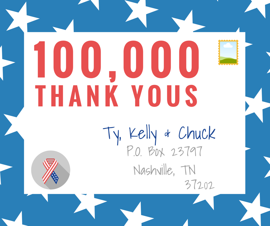 Ty Kelly Chucks 100000 Thank Yous Ty Kelly Chuck Mornings