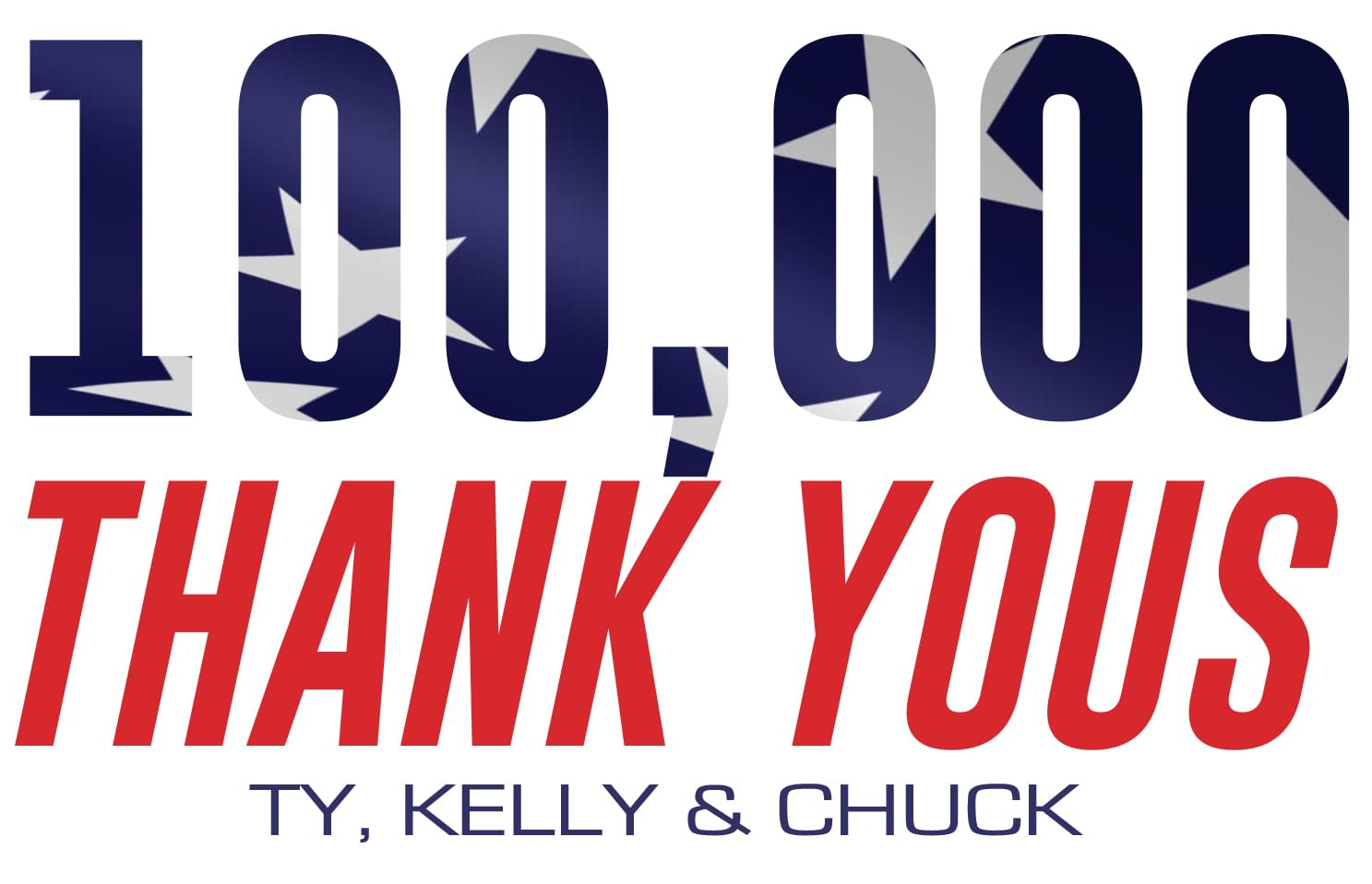 "Ty, Kelly & Chuck's 2nd Annual ""100,000 Thank Yous!"""