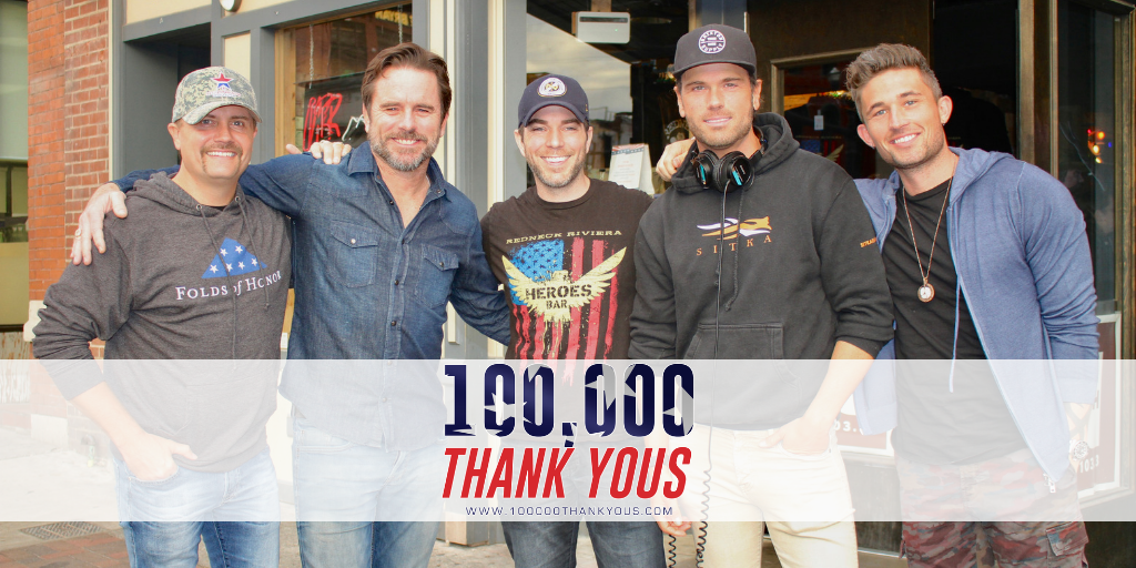 100,000 Thank Yous Launches from Redneck Riviera in Downtown Nashville
