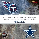 Titans Travel to Dallas for Monday Night Football