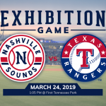 Nashville Sounds vs Texas Rangers Exhibition