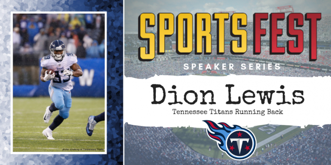 3bca52a4 Titans RB Dion Lewis to Speak at the 10th Annual SportsFest! | WGFX-FM