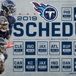 Titans 2019 Schedule Announced