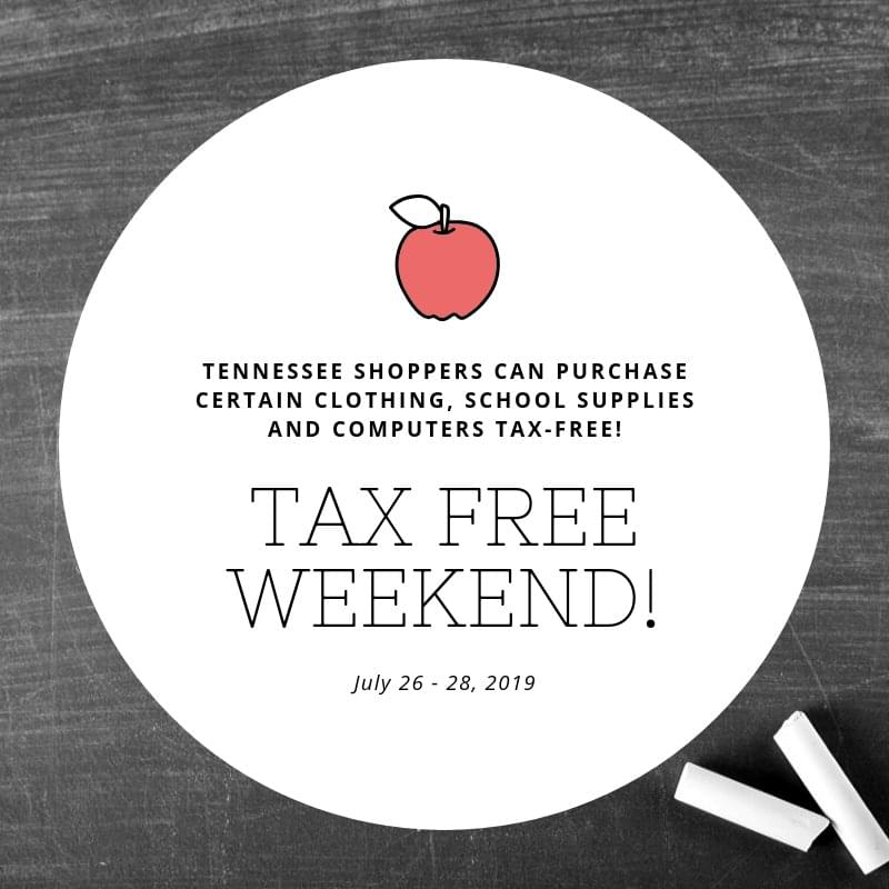Tennessee's Tax Free Weekend is July 26-28th | WGFX-FM