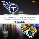 Titans vs Jaguars: Gameday Info
