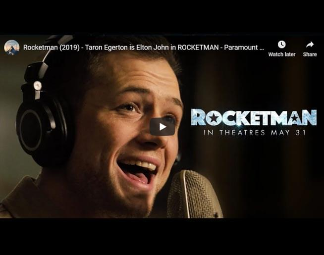 "ELTON JOHN: Watch Taron Sing ""Tiny Dancer"" for Rocketman"