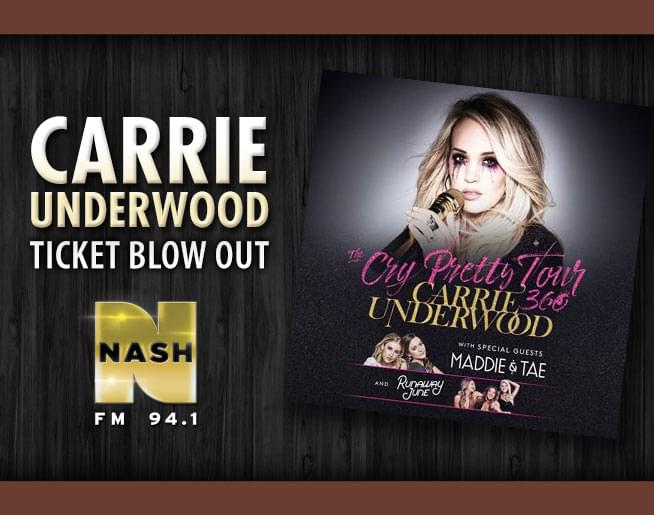 Carrie Underwood Ticket Blow Out