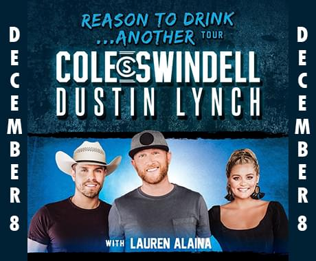 Nash FM 94.1 Welcomes Cole Swindell, Dustin Lynch and Lauren Alaina