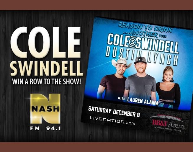 Win A Row To The Show to see Cole Swindell