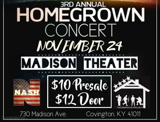 NASH FM 94.1 WELCOMES THE 3RD ANNUAL HOMEGROWN CONCERT!