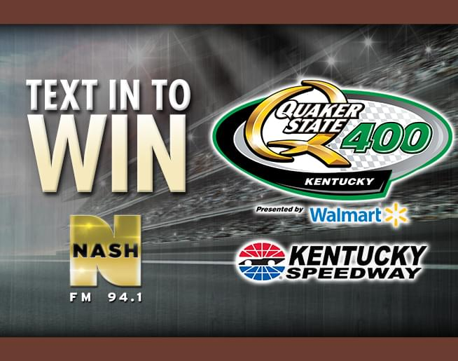 Text in to Win: Tickets to the Quaker State 400!
