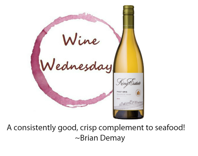 Brian's Wine Wednesday: King Estate Pinot Gris