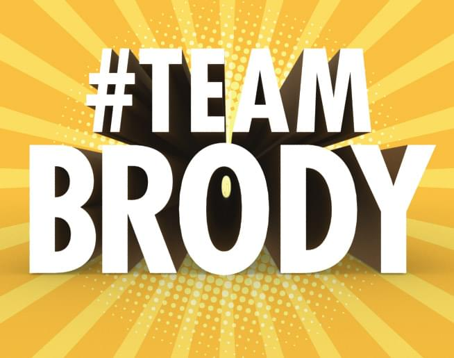 Warm 98.5 is part of #TeamBrody!