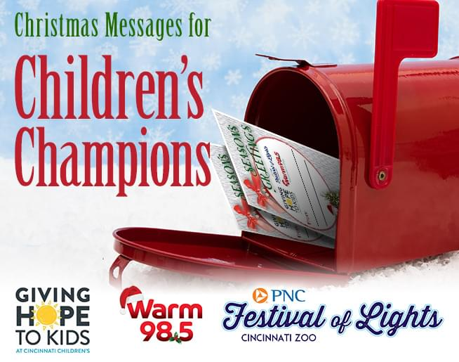 Christmas Messages for Children\'s Champions!   Warm 98.5   WRRM-FM
