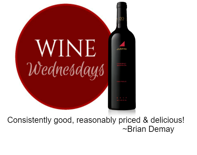 Brian Demay's Wine Wednesday: Justin Cabernet Sauvignon