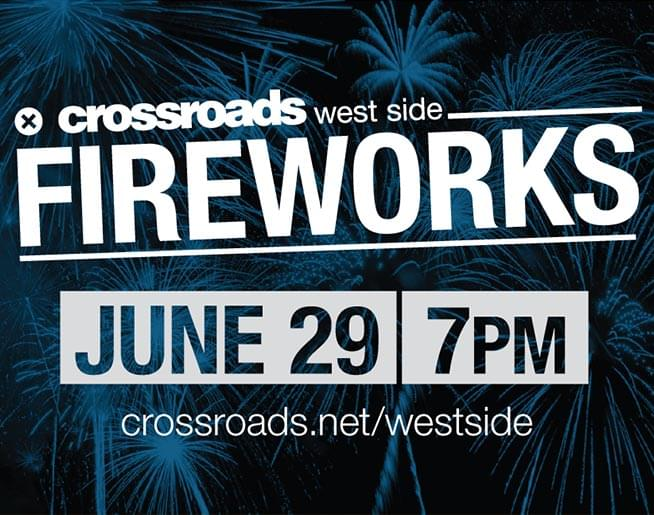 Join Amanda Orlando for Crossroad's West Side's Fireworks!