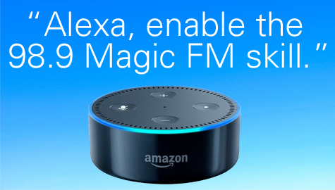 98.9 Magic FM is in the Alexa Skills Store