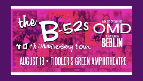 B-52's | OMD | Berlin | Fiddler's Green | Aug 18