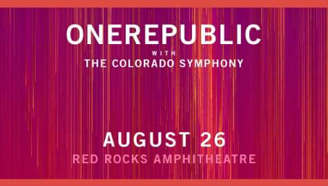 OneRepublic w/ Colorado Symphony | Red Rocks | Aug 26