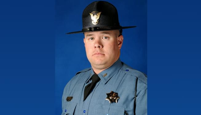 Flags Lowered in Honor of Trooper William Moden