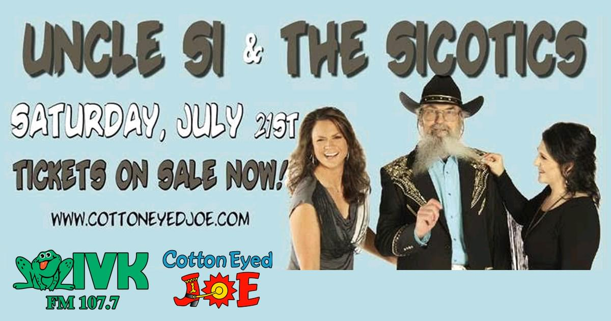 July 21 – Uncle Si & The Sicotics at Cotton Eyed Joe