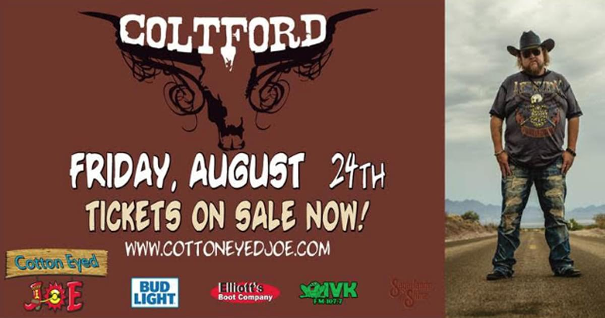 August 24 – Colt Ford at Cotton Eyed Joe