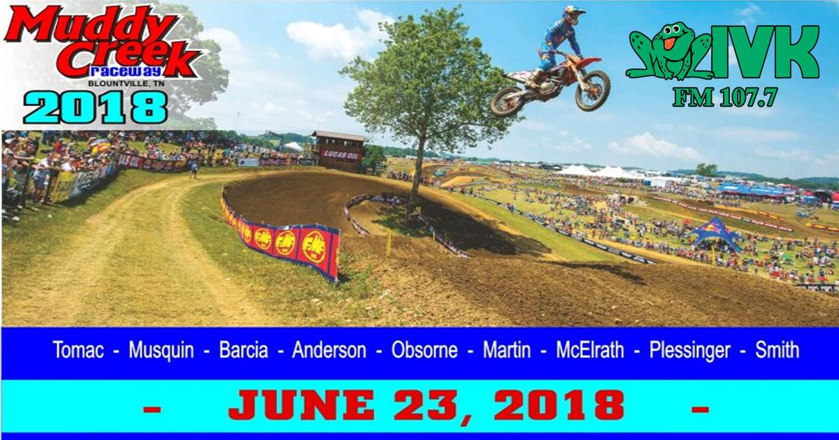 Win a Super VIP Pack to the Muddy Creek Raceway Pro Motocross Championship