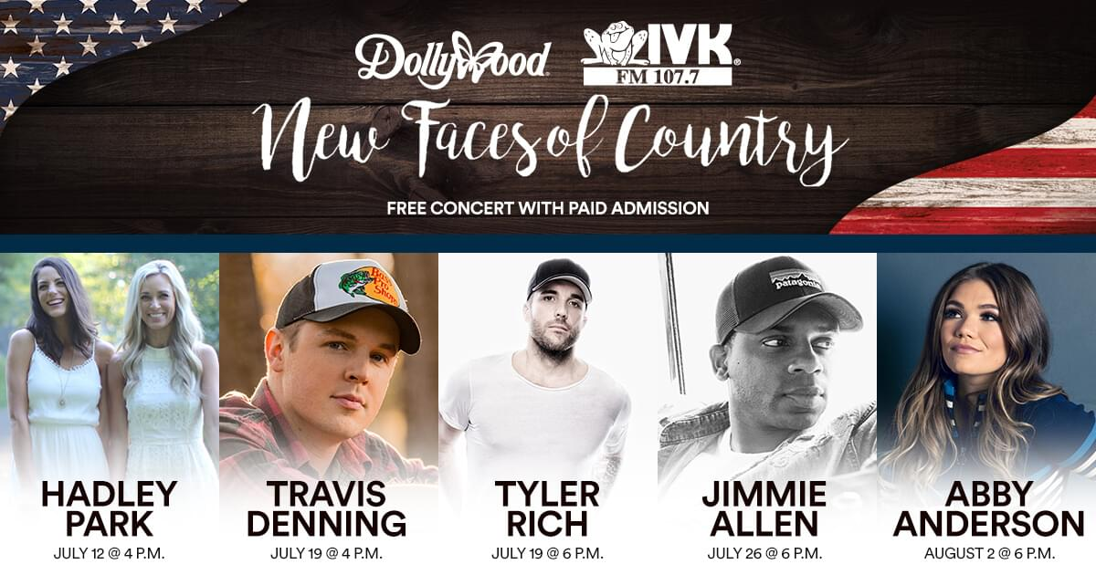 New Faces of Country Presented by WIVK & Dollywood