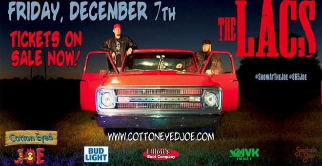 December 7 –  The LACS at Cotton Eyed Joe