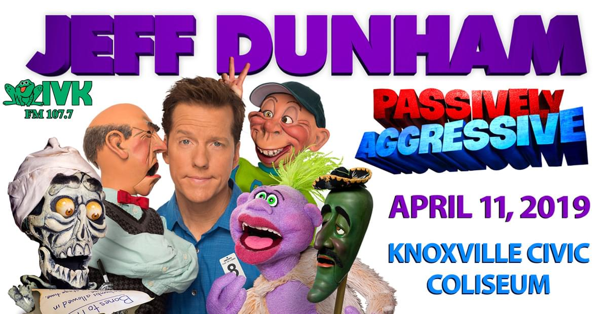 April 11 – Jeff Dunham at Knoxville Civic Coliseum