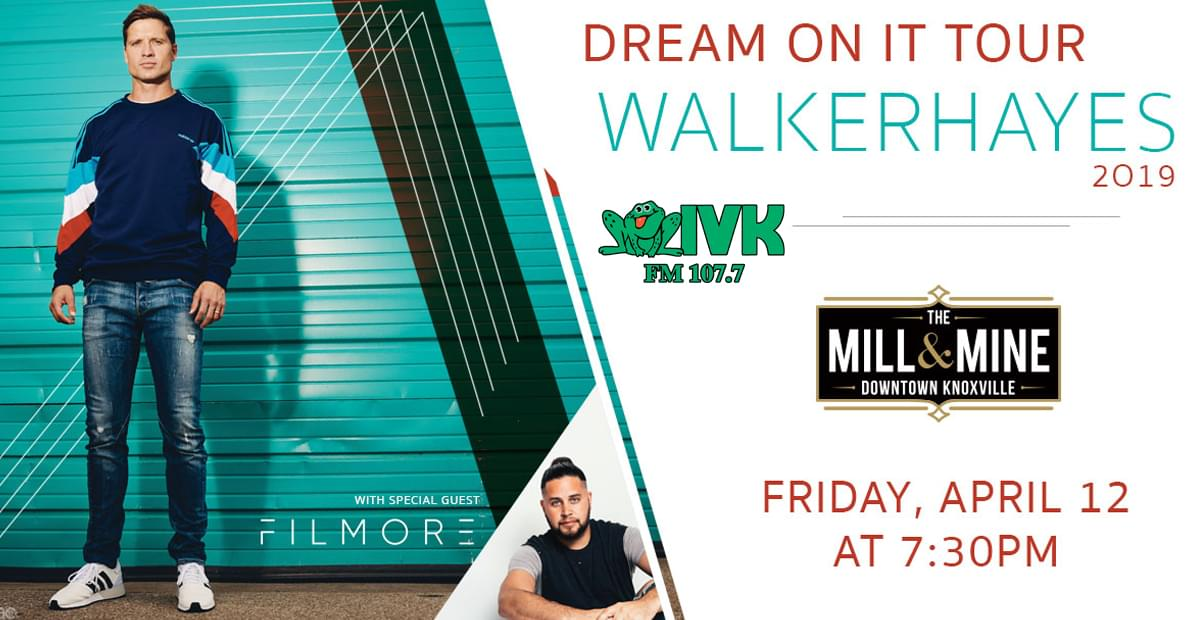 April 12 – Walker Hayes at The Mill & Mine