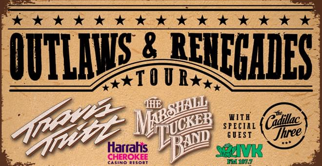 April 27 – Travis Tritt, Marshall Tucker Band, The Cadillac Three at Harrah's