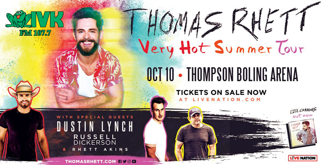 October 10 – Thomas Rhett at Thompson-Boling Arena