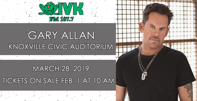 March 28 – Gary Allan at Knoxville Civic Auditorium