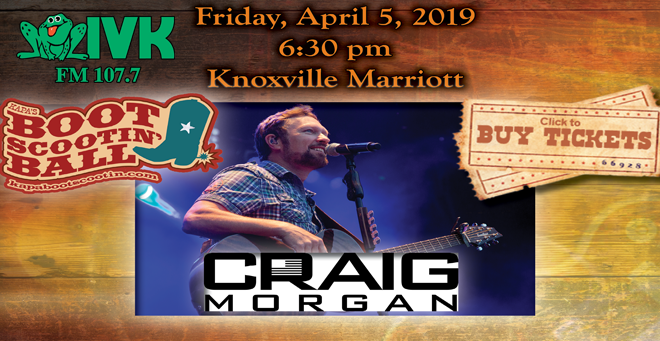 April 5 – Craig Morgan at KAPA's Boot Scootin' Ball